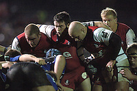 2005/06 Powergen Cup, Bath Rugby vs Gloucester Rugby, Gloucester front row, ready to pack down, left Phil Vickery, Mefin Davies, and Nick Wood, The Rec, on the 03.12.2005.   © Peter Spurrier/Intersport Images - email images@intersport-images..