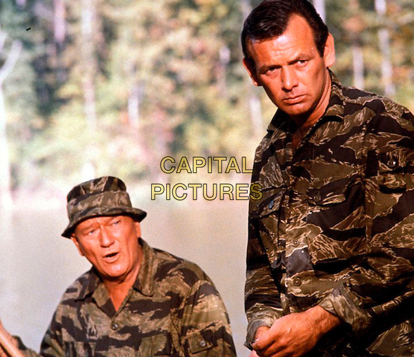 John Wayne & David Janssen.in The Green Berets (1968) .*Filmstill - Editorial Use Only*.CAP/NFS.Supplied by Capital Pictures.