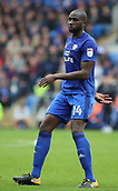 30th September 2017, Cardiff City Stadium, Cardiff, Wales; EFL Championship football, Cardiff City versus Derby County; Sol Bamba of Cardiff City