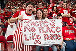 Wisconsin Badgers fans display a sign during a Big Ten Conference NCAA college basketball game against the Illinois Fighting Illini on Sunday, March 4, 2012 in Madison, Wisconsin. The Badgers won 70-56. (Photo by David Stluka)