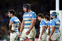Tomas Lavanini of Argentina looks dejected after his side concede a try. Rugby World Cup Semi Final between Argentina v Australia on October 25, 2015 at Twickenham Stadium in London, England. Photo by: Patrick Khachfe / Onside Images