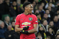 Anthony Martial of Manchester United celebrates after scoring to make it 3-0 during the Premier League match between Norwich City and Manchester United at Carrow Road on October 27th 2019 in Norwich, England. (Photo by Matt Bradshaw/phcimages.com)<br /> Foto PHC/Insidefoto <br /> ITALY ONLY