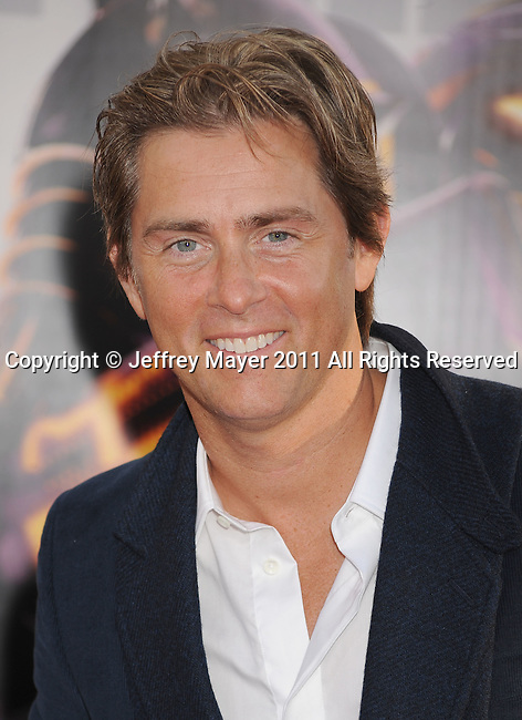 """UNIVERSAL CITY, CA - OCTOBER 02: John Gatins attends the """"Real Steel"""" Los Angeles Premiere at Gibson Amphitheatre on October 2, 2011 in Universal City, California."""