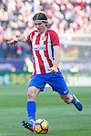 Filipe Luis of Atletico de Madrid in action during the match of Spanish La Liga between Atletico de Madrid and Futbol Club Barcelona at Vicente Calderon Stadium in Madrid, Spain. February 26, 2017. (Rodrigo Jimenez / ALTERPHOTOS)