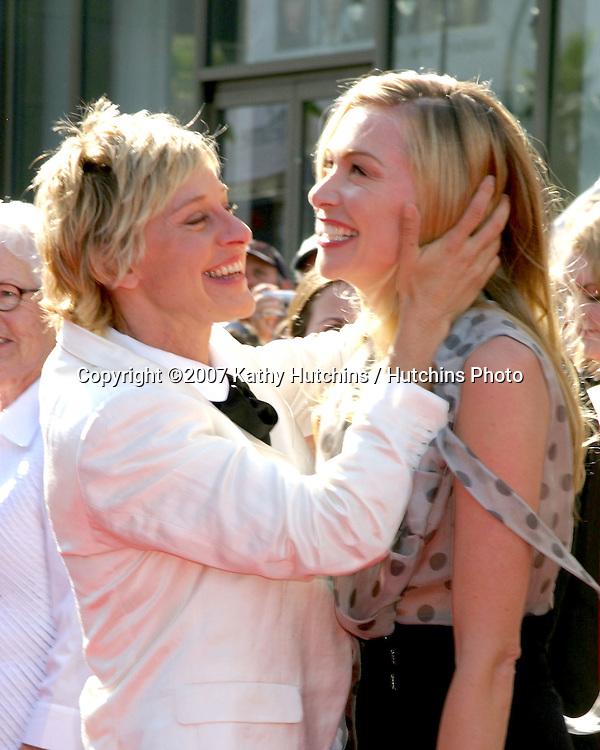 Ellen DeGeneres & Portia DeRossi.Daytime Emmys 2007.Kodak Theater.Los Angeles, CA.June 15, 2007.©2007 Kathy Hutchins / Hutchins Photo....