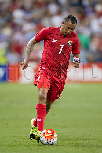 13.07.2015., Kansas City, MS, USA.  Team Panama Blas Perez (7) during the CONCACAF Gold Cup Group Stage match between Panama and the USA at Sporting Park in Kansas City, Kansas.  The match would end in a 1-1 tie.