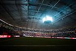 19.12.2017, Veltins-Arena , Gelsenkirchen, GER, DFB Pokal Achtelfinale, FC Schalke 04 vs 1. FC K&ouml;ln, <br /> <br /> im Bild | pictures shows:<br /> die Fans der Nordkurve singen das Steigerlied, <br /> <br /> Foto &copy; nordphoto / Rauch