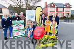 Seen on Friday in The Fair Field Killorglin at the launch of the Killorglin Lawnmower Run to be held on Friday 31st May at 7pm<br /> Back L-R Siobh·n McSweeney, Caroline Foley, Jim Clifford, Brendan Ferris, Anthony Doona, Joe Doona, Brendan Tyther, Miranda Ahern.<br /> Front L-R Pat Tyther with Aoife McSweeney, Isobel O'Donoghue, Niamh Howden, Lucy O'Brien.