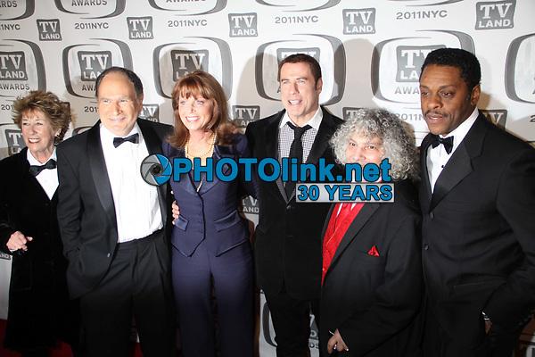 New York City 4-10-2011<br /> FILE PHOTO<br /> John Travolta and Family Ties Cast<br /> Photo by John Barrett-PHOTOlink.net
