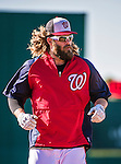 9 March 2014: Washington Nationals outfielder Jayson Werth runs bases prior to a Spring Training game against the St. Louis Cardinals at Space Coast Stadium in Viera, Florida. The Nationals defeated the Cardinals 11-1 in Grapefruit League play. Mandatory Credit: Ed Wolfstein Photo *** RAW (NEF) Image File Available ***
