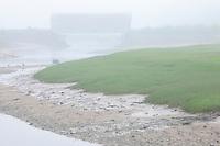 Covered bridge in fog<br /> Saint Martins<br /> New Brunswick<br /> Canada