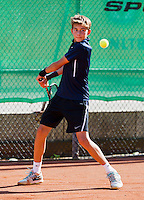 August 9, 2014, Netherlands, Rotterdam, TV Victoria, Tennis, National Junior Championships, NJK,  Final boys 14 years   Amadatus Admiraal (NED)<br /> Photo: Tennisimages/Henk Koster