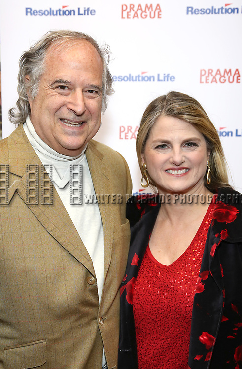 Stewart F. Lane and Bonnie Comley attends the 2017 Drama League Award Nominees Announcements at Sardi's on April 19, 2017 in New York City.