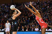 7th September 2017, Te Rauparaha Arena, Wellington, New Zealand; Taini Jamison Netball Trophy; New Zealand versus England;  Silver Ferns Bailey Mes (L) looks to pass with Englands Geva Mentor pressing