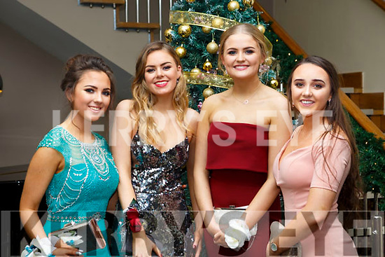 Attending the Gaelcholáiste Chiarrai Debs in the Ballyroe Heights Hotel on Tuesday night last, l-r, Siun Moriarty, Ciara Drilan, Anna O'Connor and Edel Moran (All Tralee).