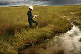 Flujo de agua en Campo Rubiales, Meta, Colombia.