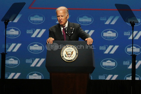 WASHINGTON DC - JUNE 14:  U.S. Vice President Joe Biden speaks at the White House United State of Women Summit in Washington, D.C. on June 14, 2016. Credit: Walik Goshorn/MediaPunch