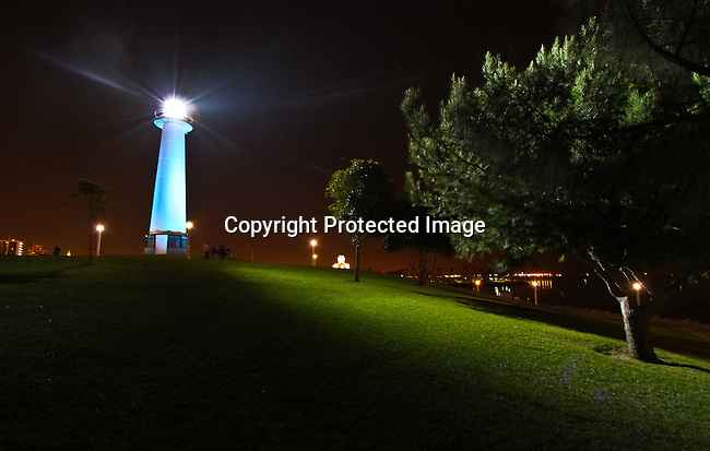 The Long Beach Lighthouse in Long Beach, California. <br /> Jim Urquhart/Straylighteffect.com<br /> 11/15/2009