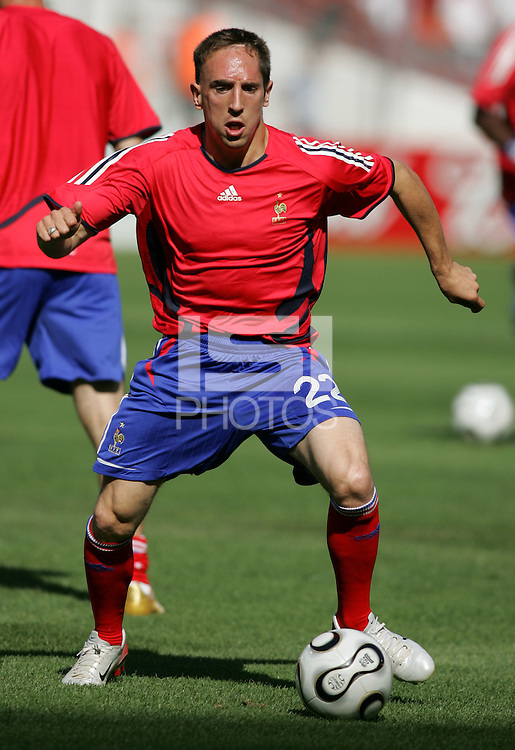 Frank Ribery of France. France and Switzerland played to a 0-0 tie in their FIFA World Cup Group G match at the Gottlieb-Daimler-Stadion, Stuttgart , Germany, on Tuesday, June 13, 2006.