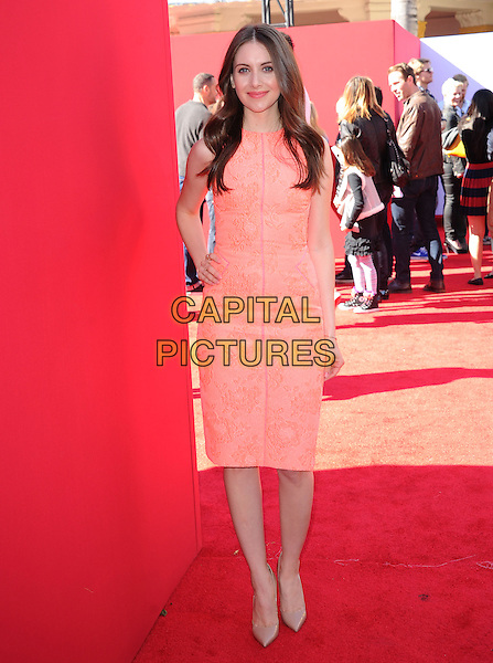 Alison Brie attends The Warner Bros' Pictures L.A. Premiere of The Lego Movie held at The Regency Village in Westwood, California on February 01,2014                                                                                <br /> CAP/DVS<br /> &copy;Debbie VanStory/Capital Pictures