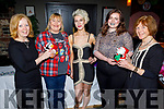 L to r: Grainne McPoland, Jackie Landers, Dawn Lenihan, Morgan Sweeney and Marion Campbell attending the ScEEN in Kerry Christmas party in the Ashe Hotel on Saturday night.