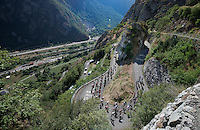 grupetto  up the Lacets de Montvernier (2C/782m/3.4km, 8.2%)<br /> <br /> stage 18: Gap - St-Jean-de-Maurienne (187km)<br /> 2015 Tour de France
