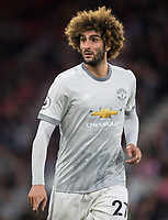 Marouane Fellaini of Man Utd during the Premier League match between Bournemouth and Manchester United at the Goldsands Stadium, Bournemouth, England on 18 April 2018. Photo by Andy Rowland.