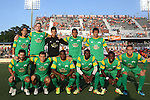 31 May 2014: Tampa Bay's starters. Front row (l to r): Blake Wagner, Frankie Sanfilippo, Shane Hill (ENG), Anthony Wallace, Evans Frimpong (GHA), Casey Townsend. Back row (l to r): Willie Hunt, Kyle Clinton, Cody Mizell, Darel Russell (ENG), Georgi Hristov (BUL). The Carolina RailHawks played the Tampa Bay Rowdies at WakeMed Stadium in Cary, North Carolina in a 2014 North American Soccer League Spring Season match. Carolina won the game 2-0.