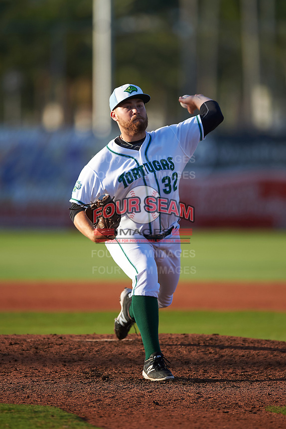 Daytona Tortugas relief pitcher Seth Varner (32) delivers a pitch during a game against the Fort Myers Miracle on April 17, 2016 at Jackie Robinson Ballpark in Daytona, Florida.  Fort Myers defeated Daytona 9-0.  (Mike Janes/Four Seam Images)