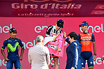 Tom Dumoulin (NED) Team Sunweb wins the general classification with Nairo Quintana (COL) Movistar Team 2nd and Vincenzo Nibali (ITA) Bahrain-Merida 3rd at the end of Stage 21, the final stage of the 100th edition of the Giro d'Italia 2017, an individual time trial running 29.3km from Monza Autodrome to Milan Duomo, Italy. 28th May 2017.<br /> Picture: LaPresse/Fabio Ferrari | Cyclefile<br /> <br /> <br /> All photos usage must carry mandatory copyright credit (&copy; Cyclefile | LaPresse/Fabio Ferrari)