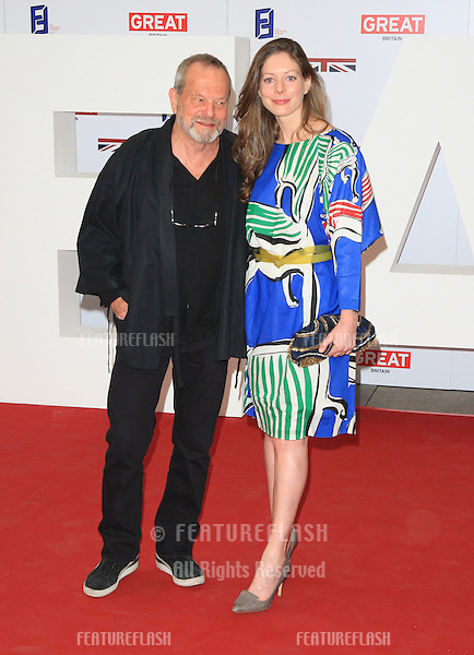 Terry Gilliam and Maggie Weston at the The UK's Creative Industries Reception supported by the Foundation Forum at the Royal Academy of Arts - Arrivals.London. 30/07/2012 Picture by: Henry Harris / Featureflash
