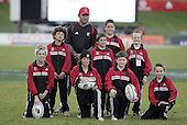 Gus Leger & his team of ballboys at halftime during the Air NZ Cup game between the Counties Manukau Steelers and Southland played at Mt Smart Stadium on 3rd September 2006. Counties Manukau won 29 - 8.