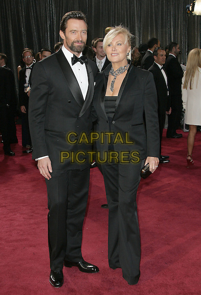 24 February 2013 - Hollywood, California - Hugh Jackman, Deborah Lee Furness. 85th Annual Academy Awards held at the Dolby Theatre at Hollywood & Highland Center.  .CAP/ADM.©AdMedia/Capital Pictures.