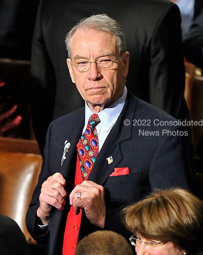 United States Senator Charles Grassley (Republican of Iowa) waits for the start of U.S. President Barack Obama's State of the Union Address to a Joint Session of Congress in the U.S. Capitol in Washington, D.C. on Tuesday, January 25, 2011..Credit: Ron Sachs / CNP.(RESTRICTION: NO New York or New Jersey Newspapers or newspapers within a 75 mile radius of New York City)