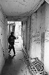 Shatila, UNRWA camp. A maze of narrow streets in the shadow of the anarchic constructions.<br />  <br /> Chatila, UNRWA camp. Un d&eacute;dale de ruelles &eacute;troites &agrave; l'ombre de constructions anarchiques.