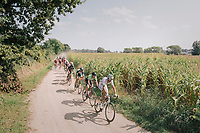 "Brice Feillu (FRA/Fortuneo-Samsic) up front<br /> <br /> Antwerp Port Epic 2018 (formerly ""Schaal Sels"")<br /> One Day Race:  Antwerp > Antwerp (207 km; of which 32km are cobbles & 30km is gravel/off-road!)"