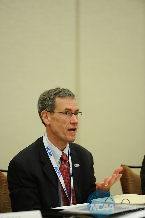 11 JAN 2012: The Division III President's Council at the 2012 NCAA Convention held at the JW Marriott and Indianapolis Convention Center in Indianapolis, IN.  Stephen Nowland/NCAA Photos.Pictured: Dan Dutcher