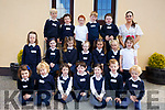 First day for Ms. Aoife O'Sullivan's Junior Infants at Glounaguillagh National School, Caragh Lake on Friday. Pictured Aisling Buckley, Odhran Buckley, Nevaeh Buckley Lodder, Molly Cane, Eagaoin Clifford, Siomha Clifford, Jamie Courtney, Amelia Courtney Lodder, Cormac Doherty, Callum Doyle, Rory Dwyer, Kaia Ferris, Darragh Foley, Eliza Lynch, Madeleine Lynch, Sophie Moriarty, Dylan O'Grady, Stephen O'Reilly, Paidi O'Shea