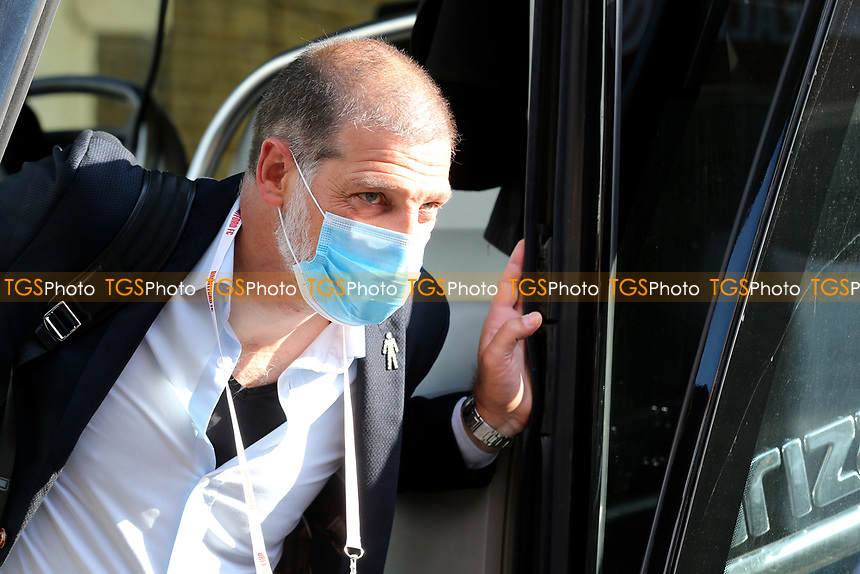 West Brom Manager, Slaven Bilic, arrives at the ground during Brentford vs West Bromwich Albion, Sky Bet EFL Championship Football at Griffin Park on 26th June 2020
