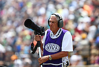 Jul 24, 2016; Morrison, CO, USA; NHRA photographer/journalist Jon Asher during the Mile High Nationals at Bandimere Speedway. Mandatory Credit: Mark J. Rebilas-USA TODAY Sports