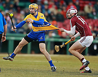 (11/19/2017- Boston, MA) Galway's (14) Jason Flynn pulls on the jersey of Clare's (20) Rory Hayes at the AIG Fenway Hurling Classic at Fenway Park on Sunday, November 19, 2017. Staff Photo by Matt West