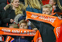 "junge Holländische Fans forder ""Hup Holland"" - 24.03.2019: Niederlande vs. Deutschland, EM-Qualifikation, Amsterdam Arena, DISCLAIMER: DFB regulations prohibit any use of photographs as image sequences and/or quasi-video."