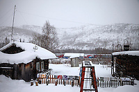A view of the village of Kun ('Snow Covered Valley') where the Matvei Mudrov train has stopped to deliver services. The village has no running water and only few people live here now. <br /> <br /> The Matvei Mudrov train is a medical train operated by Russian Railways along the course of the Baikal Amur Magistral (Baikal-Amur Mainline, or BAM) railway line. Named after a famous 19th century Russian physician, the train employs around 15 doctors who make about 10 trips a year, each lasting two weeks. Along the way they deliver essential medical services to people living in remote villages along the 4,324 km long BAM railway. Though not equipped to carry out surgical procedures the train has heart monitors, ultrasound and x-ray machines to deliver diagnosis.