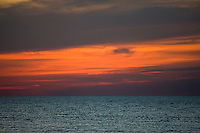 Sunset over the Gulf of Mexico from Anna Maria Island, Florida, United States of America