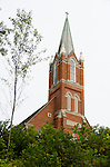 steeple of Zion Lutheran Church, Valley City,, Ohio, USA