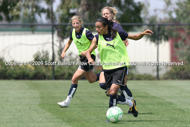 21 August 2009: LA's Marta (BRA). The Los Angeles Sol held a training session at the Home Depot Center in Carson, California one day before playing Sky Blue FC in the inaugural Women's Professional Soccer Championship Game.