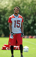 Jun 9, 2008; Tempe, AZ, USA; Arizona Cardinals wide receiver (15) Steve Breaston during mini camp at the Cardinals practice facility. Mandatory Credit: Mark J. Rebilas-