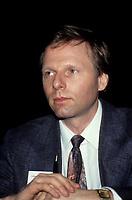 FILE PHOTO - Le journaliste Jean-Francois Lisee<br />  dans les annees 90 (entre 1991 et 1995)<br /> <br /> PHOTO :   Agence quebec Presse