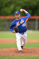 New York Mets pitcher John Mincone (40) during a minor league spring training game against the St. Louis Cardinals on March 27, 2014 at the Port St. Lucie Training Complex in Port St. Lucie, Florida.  (Mike Janes/Four Seam Images)