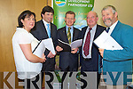 Pictured at the launch of the report on Market Opportunities for Organic Produce in Co Kerry, in the South Kerry Development offices, Killorglin, on Monday night were Mary Lynch and Ronan Farrell, joint authors, Trevor Sargent, minister for food, John Pierce, CEO South Kerry Development Partnership and Johnny O'Connor, South Kerry Development Partnership.
